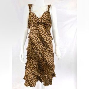 Moschino Cheap and Chic Leopard Ruffle Dress-8